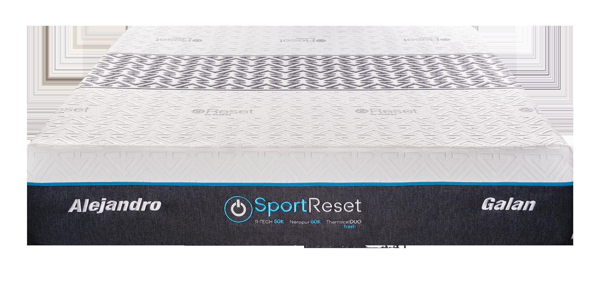 Colchon Sport Reset frontal sin sombra web
